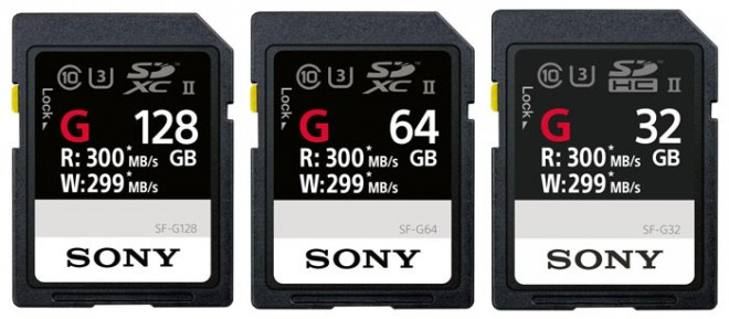 sony sf-g cartes sec