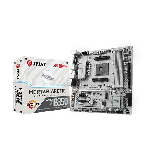Nouvelles carte mère MSI B350M Mortar et B350 Tomahawk Artic  Carte-mere-amd-am4-b350-tomahawk-arctic-b350m-mortar-arctic
