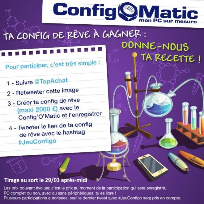 concours le concours configomatic is back chez top achat concours autres. Black Bedroom Furniture Sets. Home Design Ideas