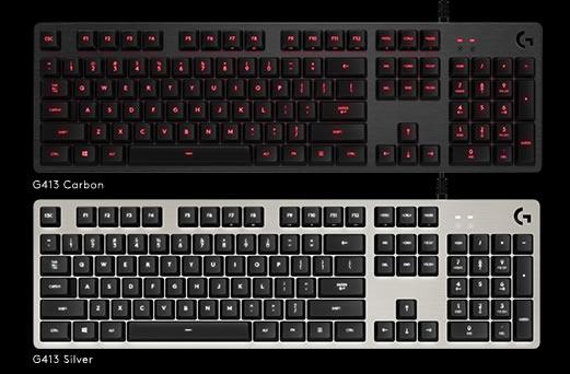 logitech g annonce un nouveau clavier m canique gaming le g413 claviers souris tapis de souris. Black Bedroom Furniture Sets. Home Design Ideas
