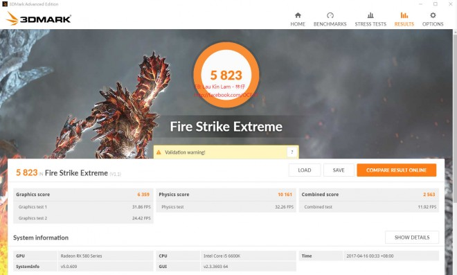 premiers-benchmarks rx-580 overclocking 3d-mark