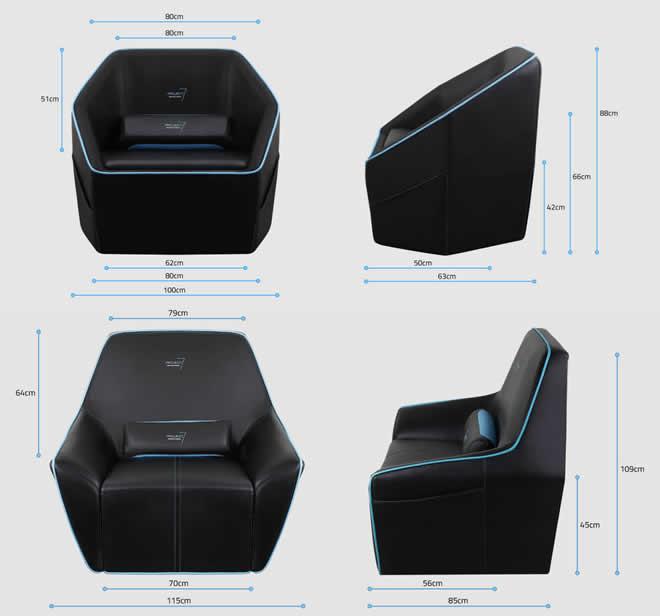 Chaise gamer millenium chaise gamer fly | Lesminesdor