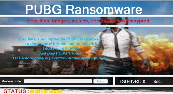 Quand un étrange malware vous oblige... à y jouer — PUBG