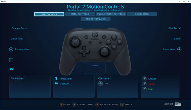 La manette Nintendo Switch Pro compatible avec Steam via la beta