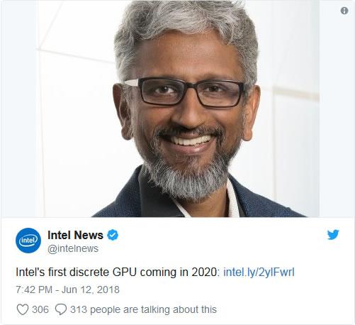 Intel lancera son premier GPU dédié en 2020