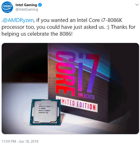 intel réponse échange amd threadripper corei7