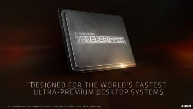 AMD announces the second generation Ryzen Threadripper processor.