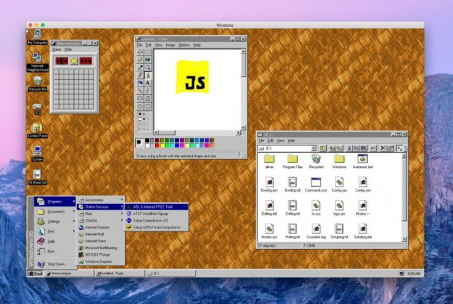 windows95 application MacOSX Linux Windows10