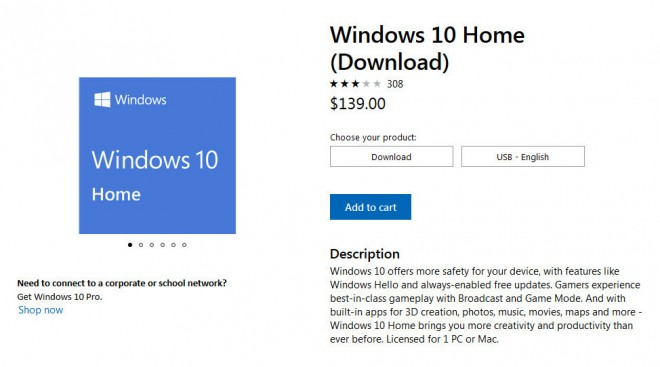 microsoft windows10 home augmentation