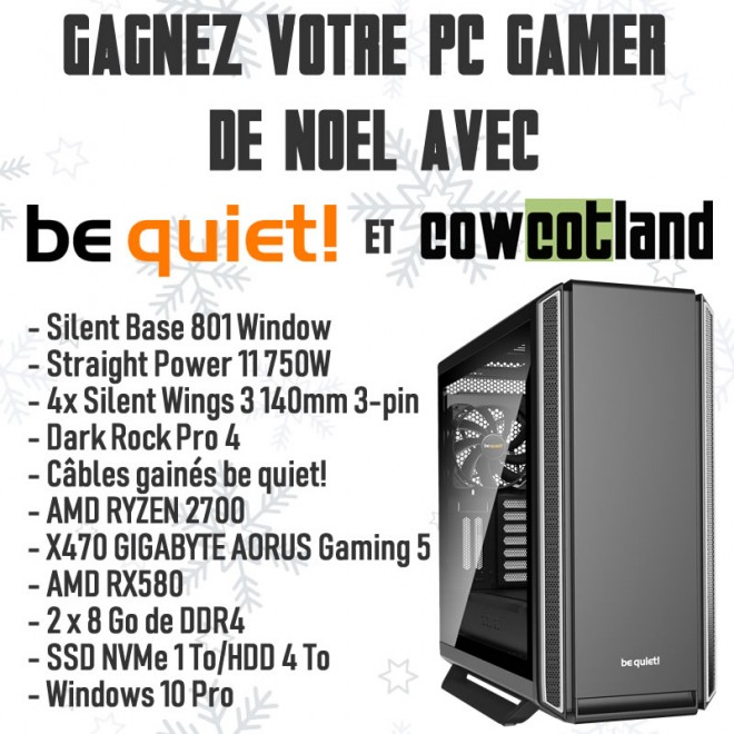 concours noel bequiet cowcotland gleam gagnant