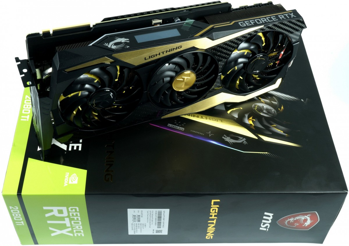test carte-graphique MSI GeForce RTX2080Ti LightningZ