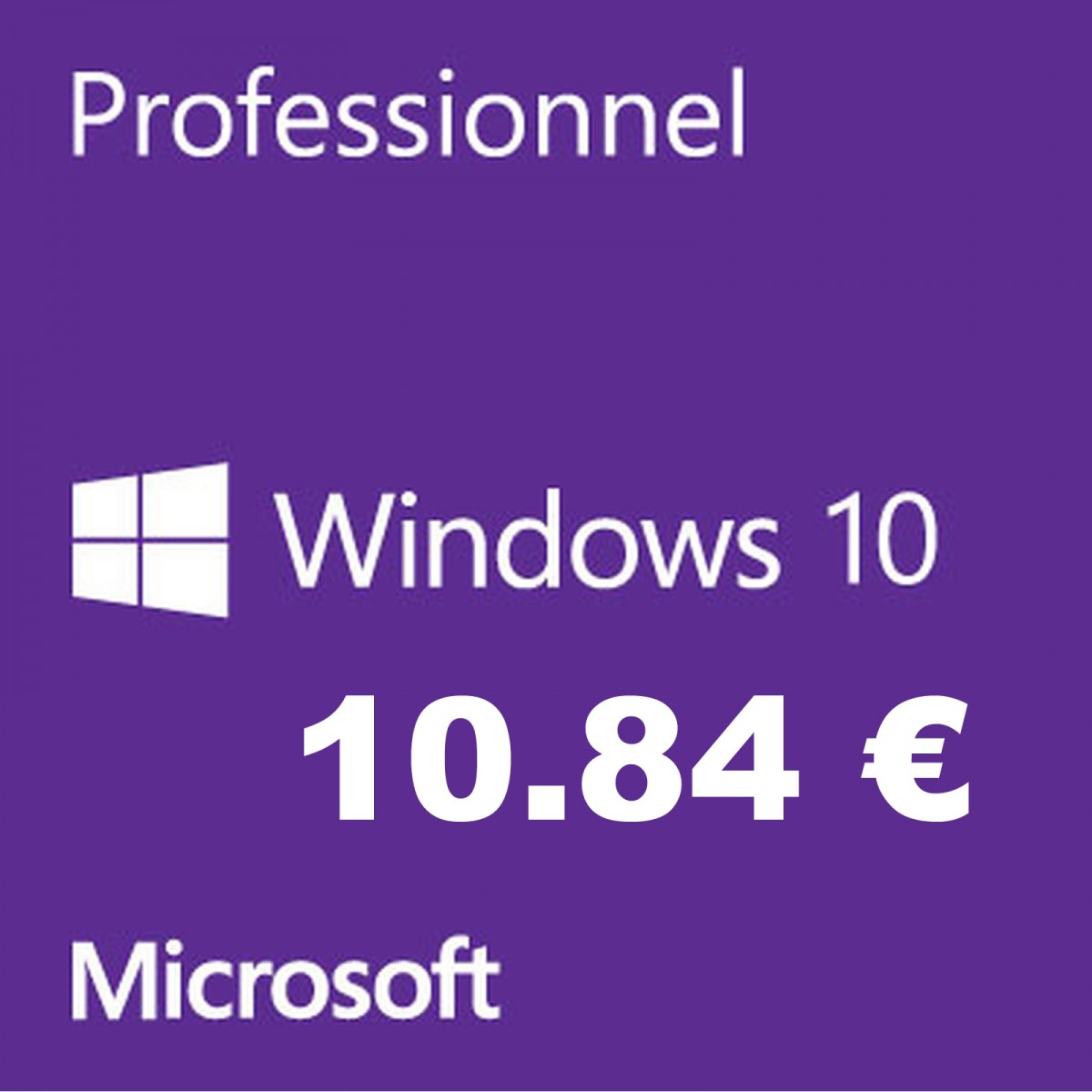 clé windows-10 pro-oem 11-euros