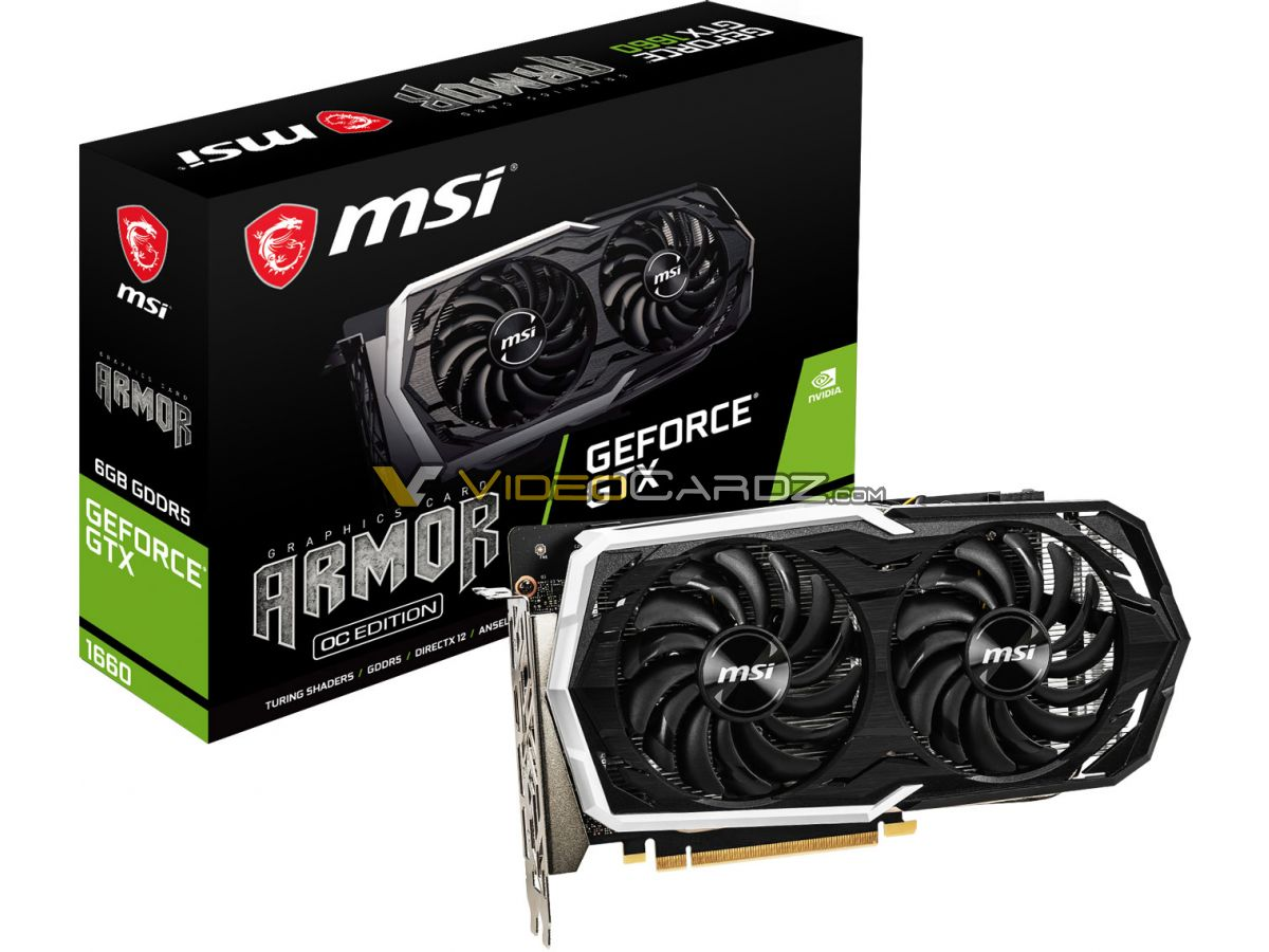 MAJ NVIDIA GeForce GTX-1660 photos prix specs MSI