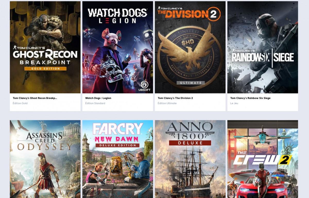 On connait les 108 jeux disponibles sur la plateforme UPlay — Ubisoft