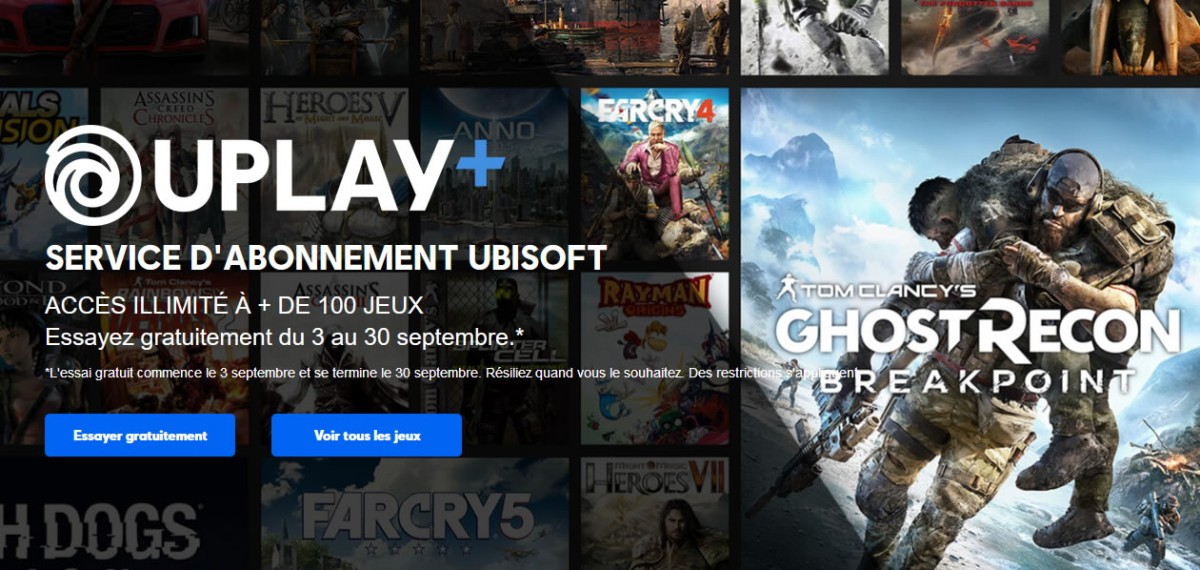 ouverture plateforme Uplay