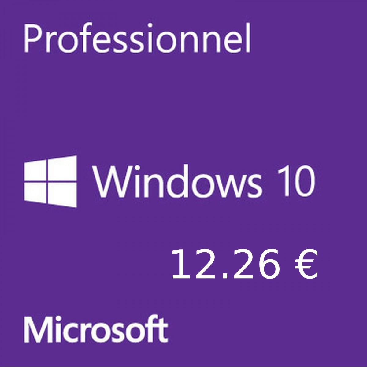 bon plan : La clé Microsoft Windows 10 PRO OEM à 12.26 euros, la clé Office 2019 à 27.62 euros