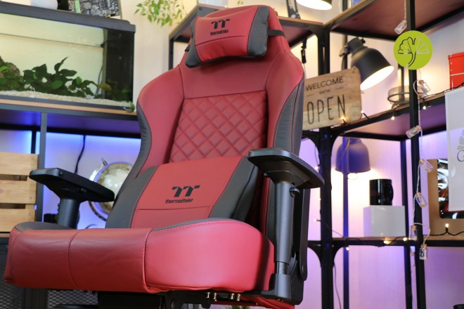 test siege gaming thermaltake X comfort Real Leather Burgundy Red