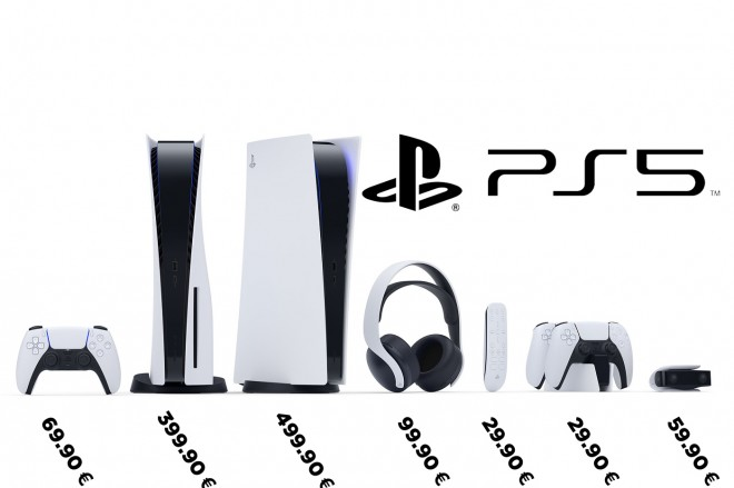prix accessoires consoles PS5 playstation-5 sony