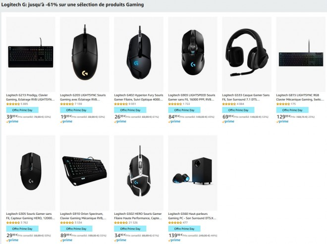 logitech gaming prime-day amazon