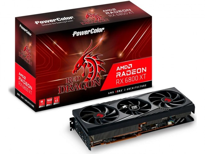 carte graphique amd radeon rx6800 rx6800xt powercolor red dragon