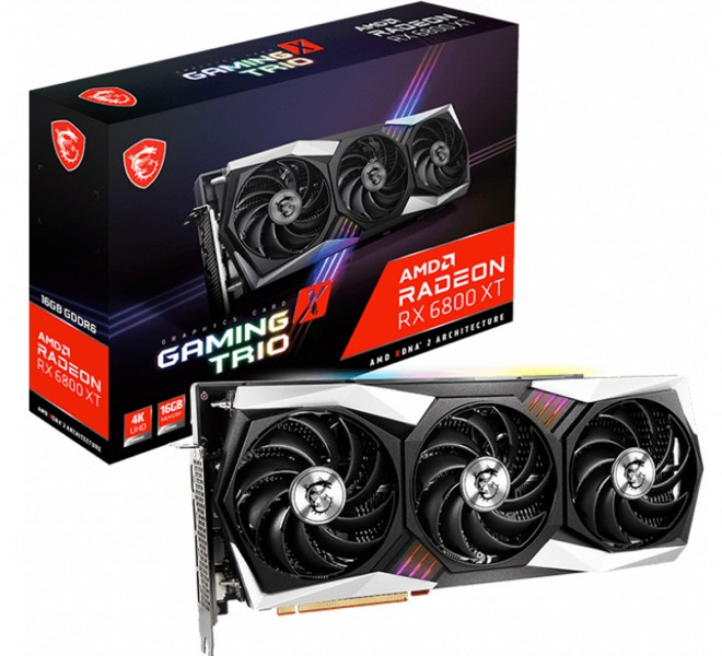 carte-graphique amd radeon rx6800 rx6800xt msi gaming x trio 919-euros