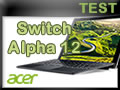 Ordinateur portable 2 en 1 Acer Switch Alpha 12