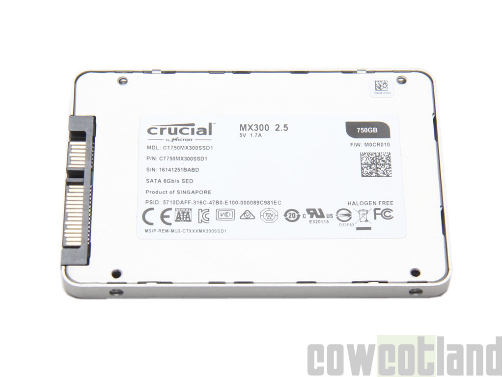 image 30532, galerie Test SSD Crucial MX300 750 Go