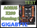 Test Gigabyte AORUS X299 Gaming 9