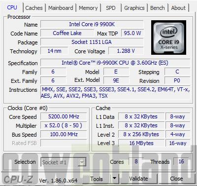 Test processeurs Intel Coffee Lake-R Core i7-9700K et Core