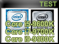 Test processeurs Intel Coffee Lake-R Core i5-9600K, Core i7-9700K et Core i9-9900K