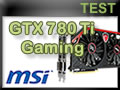 Carte graphique MSI GTX 780 Ti Gaming