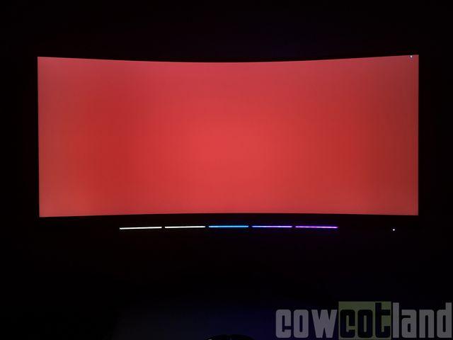 Test écran MSI MPG341CQR (1440p, 144Hz) : Glow et fuite de