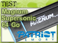 Test clé USB 3.0 Patriot Magnum Supersonic 64 Go