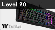 Test clavier mécanique Thermaltake Level 20