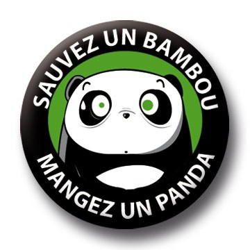 Badge Panda Vs Bambou